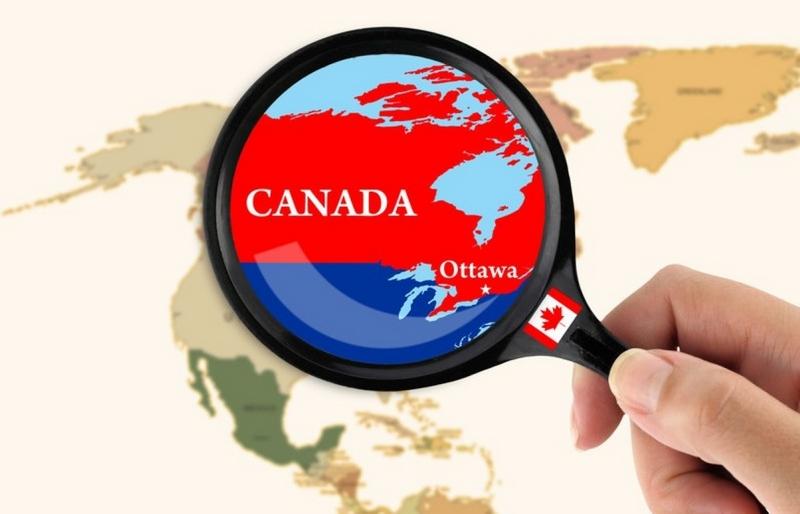 поиск канады на карте