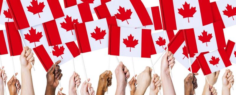 канадские флаги