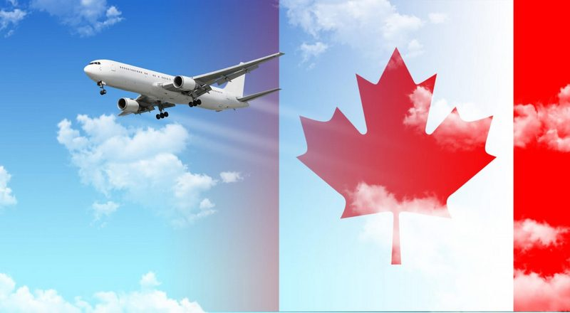 самолет в канаду